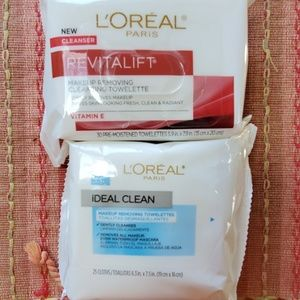 2 loreal facial wipes new